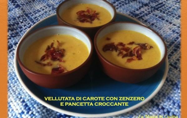 Vellutata di Carote e Pancetta croccante