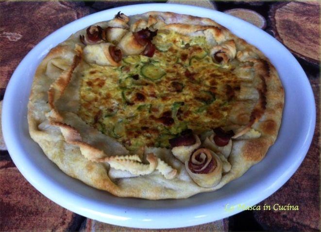 Torta rustica con Zucchine e Pancetta