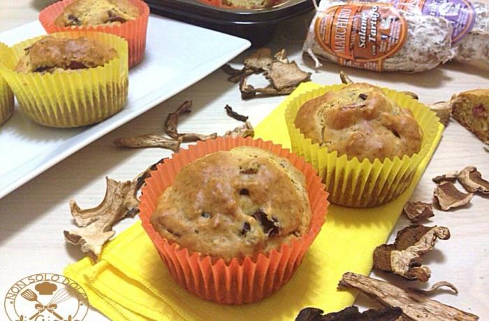 Muffin con Salame al Tartufo e Porcini